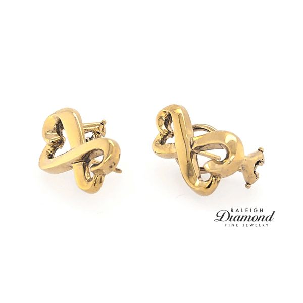 Tiffany and Co Loving Hearts Earrings in 18k Yellow Gold Image 2 Raleigh Diamond Raleigh, NC