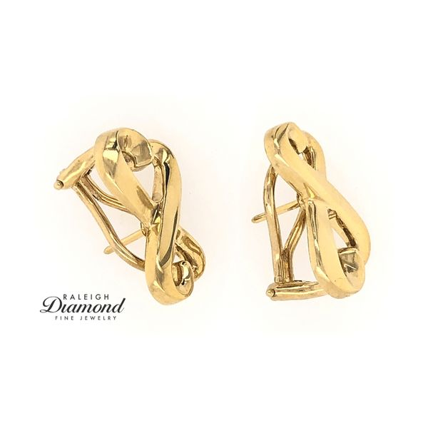 Tiffany and Co Loving Hearts Earrings in 18k Yellow Gold Image 3 Raleigh Diamond Raleigh, NC