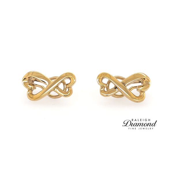 Tiffany and Co Loving Hearts Earrings in 18k Yellow Gold Raleigh Diamond Raleigh, NC