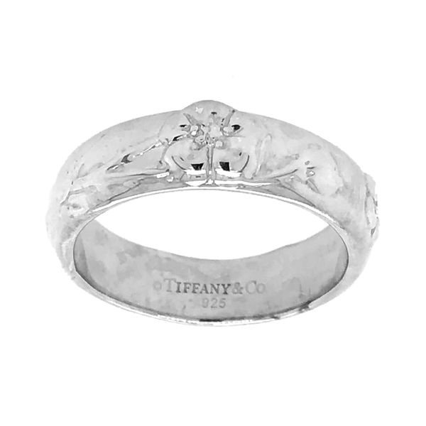 Tiffany and Co. Rose Sterling Silver Ring Raleigh Diamond Raleigh, NC