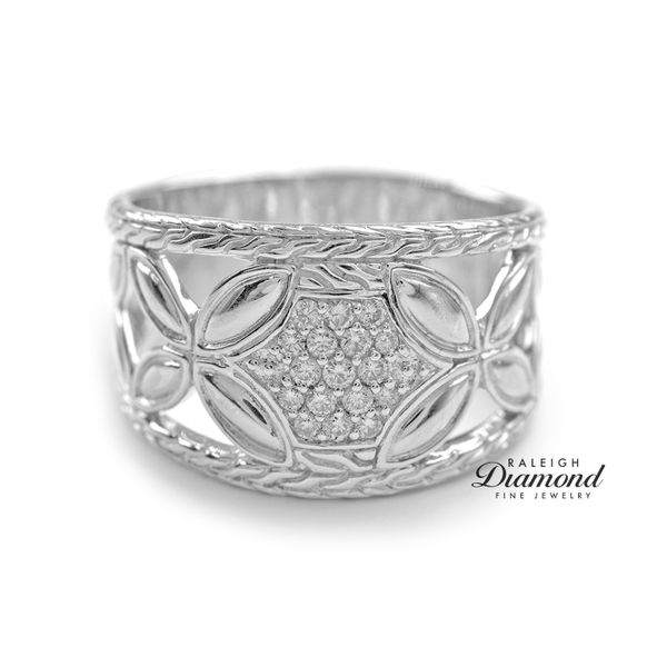 John Hardy Kawung Ring Diamonds Sterling Silver Raleigh Diamond Raleigh, NC
