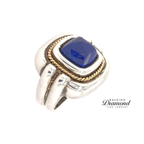 Tiffany and Co. Lapis Ring in Silver with 18k Yellow Gold Image 2 Raleigh Diamond Raleigh, NC