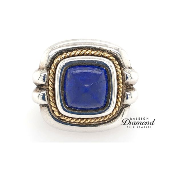 Tiffany and Co. Lapis Ring in Silver with 18k Yellow Gold Raleigh Diamond Raleigh, NC