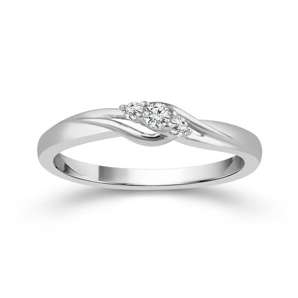 Sterling Silver .09ctw 3-Stone Diamond Promise Ring Robert Irwin Jewelers Memphis, TN