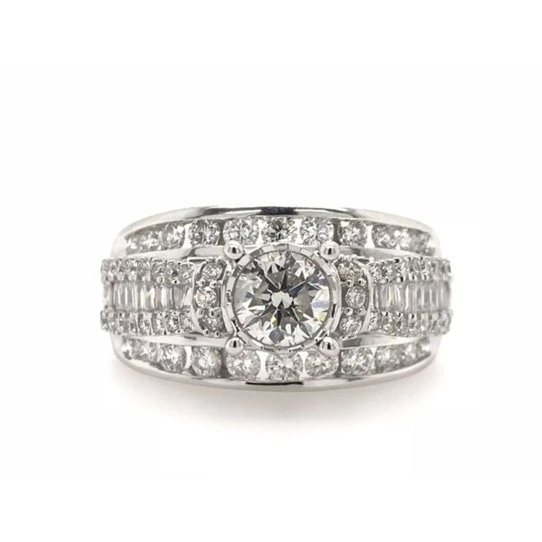 14k White Gold 1.50ctw Endless Sparkle Diamond Engagement Ring Robert Irwin Jewelers Memphis, TN