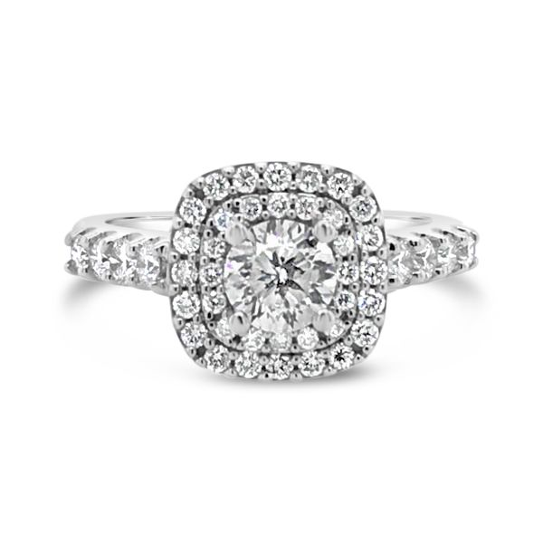 14k White Gold 1.50ctw Cien Amore Engagement Ring with 0.79ct Round Brilliant Center Diamond Robert Irwin Jewelers Memphis, TN