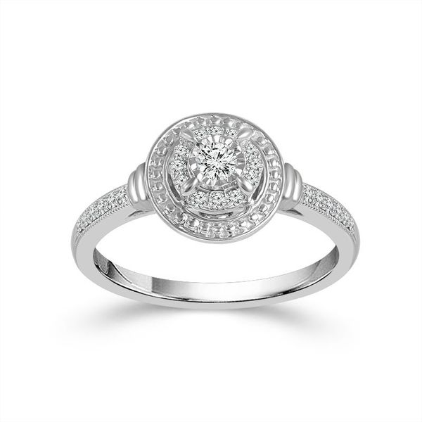 10k White Gold 0.25ctw Diamond Promise Ring Robert Irwin Jewelers Memphis, TN