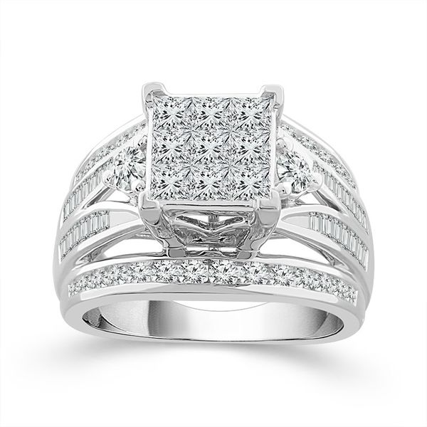 10k White Gold 2.00ctw Diamond Engagement Ring Robert Irwin Jewelers Memphis, TN