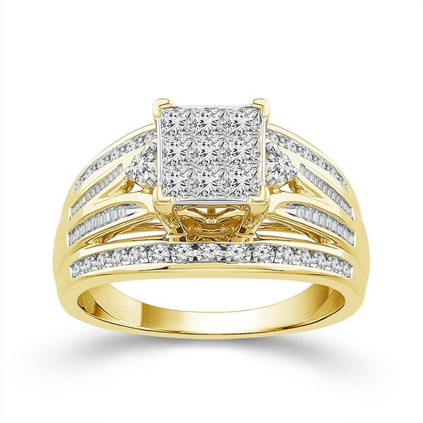 10k Yellow Gold 1.00ctw Diamond Engagement Ring Robert Irwin Jewelers Memphis, TN