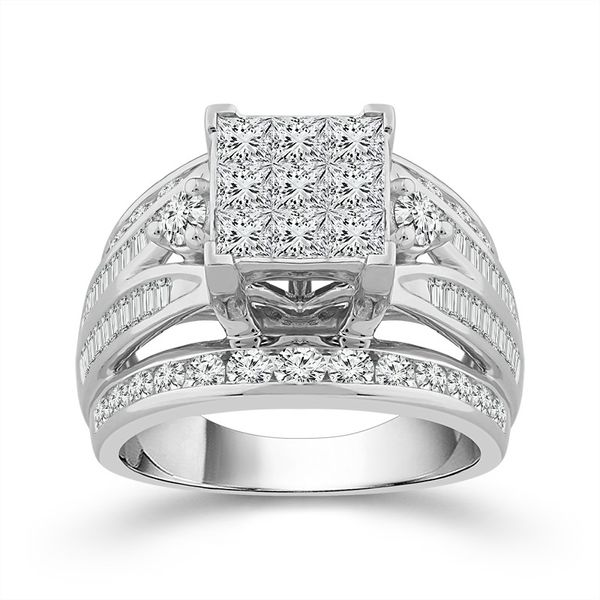10k White Gold 3.00ctw Diamond Engagement Ring Robert Irwin Jewelers Memphis, TN