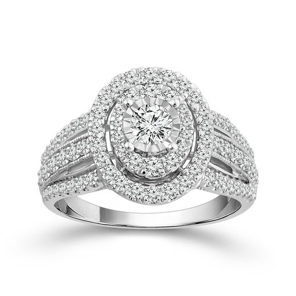 1 Ctw Oval Shaped Endless Sparkle Diamond Engagement Ring Robert Irwin Jewelers Memphis, TN