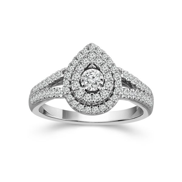 1/2 Carat Pear Shape Endless Sparkle Engagement Ring Robert Irwin Jewelers Memphis, TN