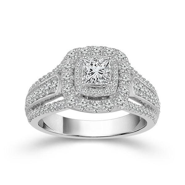 1 1/2 Carat Princess Cut Engagement Ring Robert Irwin Jewelers Memphis, TN