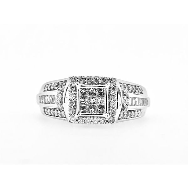 10k White Gold 1/2ctw Diamond Engagement Ring Robert Irwin Jewelers Memphis, TN