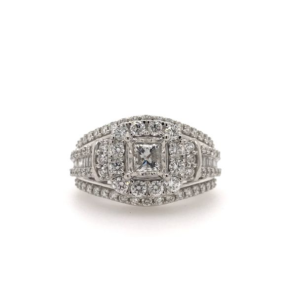 10k White Gold Endless Sparkle 1.50ctw Diamond Engagement Ring With 0.33ct Princess Cut Center Diamond Robert Irwin Jewelers Memphis, TN