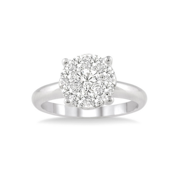 14 Karat White Gold 1/3 Carat Lovebright Diamond Engagement Ring Robert Irwin Jewelers Memphis, TN