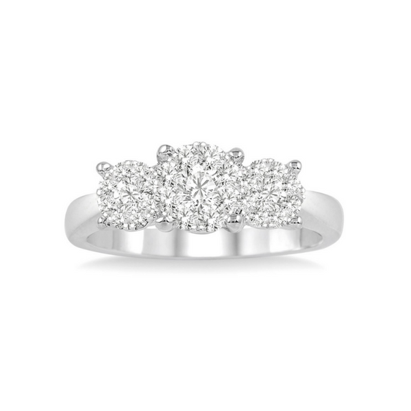 14 Karat White Gold 3/4 Carat Lovebright Diamond Engagement Ring Robert Irwin Jewelers Memphis, TN