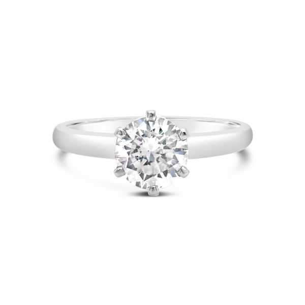 14k White Gold 1.11ct Round Brilliant 6 Prong Solitaire Robert Irwin Jewelers Memphis, TN