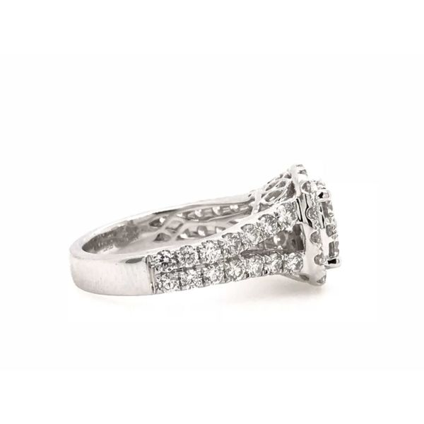 14k White Gold 2ctw Lab Grown Diamond Cluster Cushion Engagement Ring Image 2 Robert Irwin Jewelers Memphis, TN