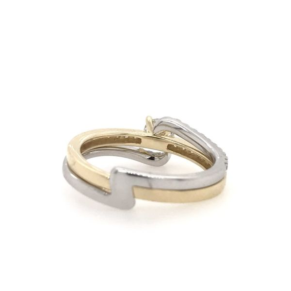 14k Two Tone Gold 0.75ctw Lab Grown Diamond Engagement Ring Image 2 Robert Irwin Jewelers Memphis, TN
