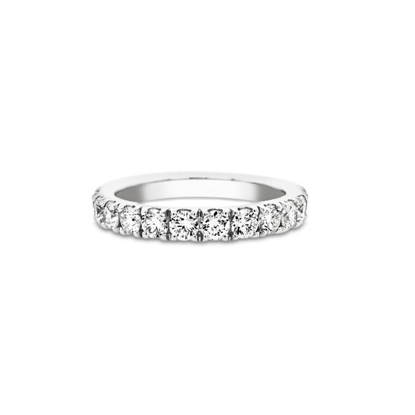 14k White Gold 1.00ctw Lab Grown Diamond Band Robert Irwin Jewelers Memphis, TN