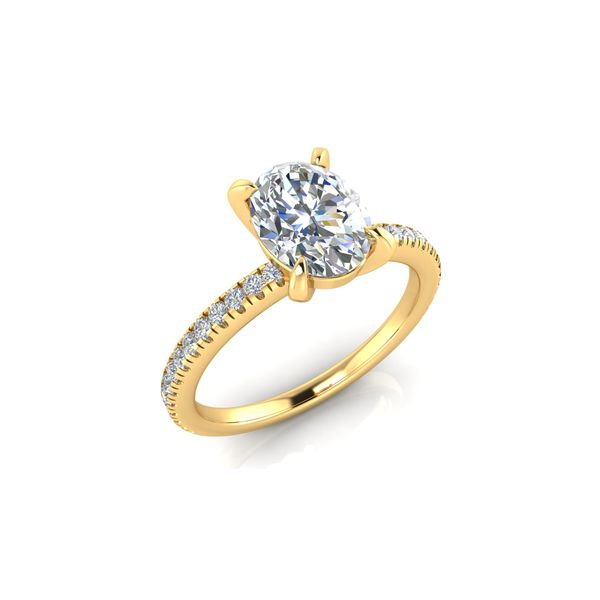 14 Karat Yellow Gold 1.50 Carat Oval Lab Grown Diamond Engagement Ring Image 2 Robert Irwin Jewelers Memphis, TN