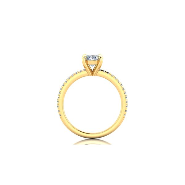 14 Karat Yellow Gold 1.50 Carat Oval Lab Grown Diamond Engagement Ring Image 3 Robert Irwin Jewelers Memphis, TN