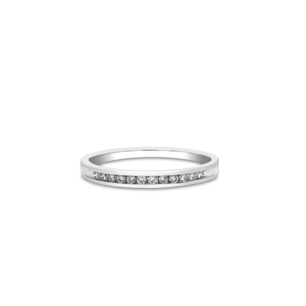 14k White Gold 0.10ctw RIJ89 Diamond Wedding Band Robert Irwin Jewelers Memphis, TN