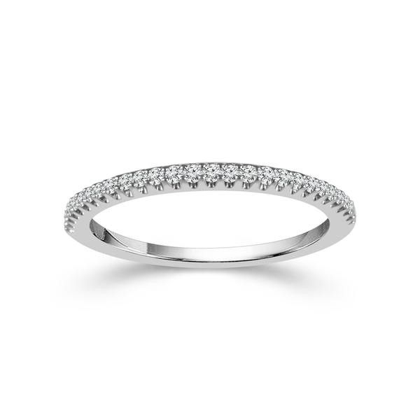 10k White Gold 0.14ctw Diamond Wedding Band Robert Irwin Jewelers Memphis, TN