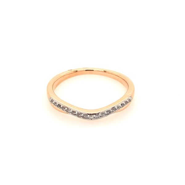 14k Rose Gold 0.10ctw Diamond Band Robert Irwin Jewelers Memphis, TN