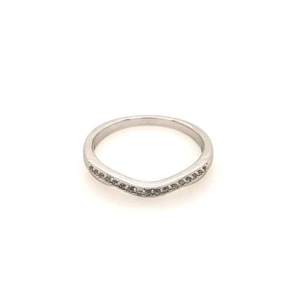 14k White Gold 0.10ctw Diamond Band Robert Irwin Jewelers Memphis, TN