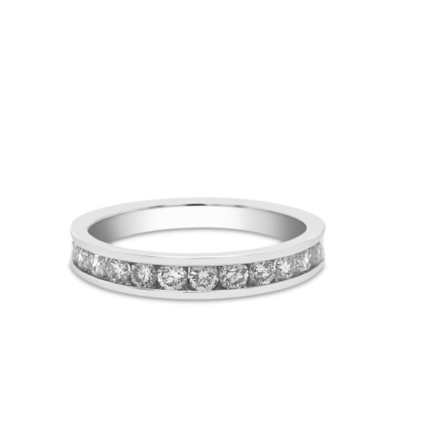 14k White Gold 0.50ctw RIJ89 Diamond Wedding Band Robert Irwin Jewelers Memphis, TN