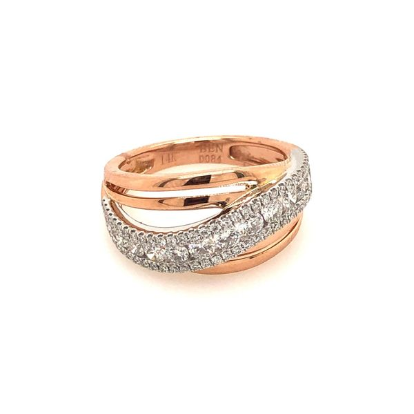 14k Two Tone Gold 0.84ctw Diamond Fashion Band Robert Irwin Jewelers Memphis, TN
