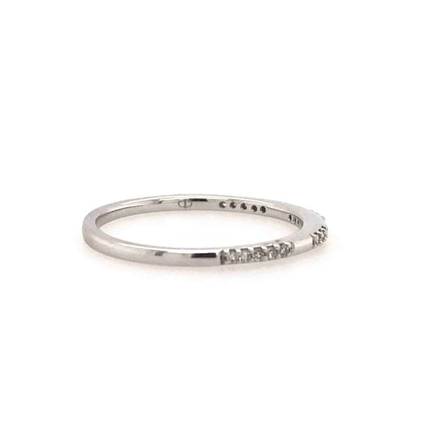 10k White Gold 0.07ctw Diamond Stackable Band Image 2 Robert Irwin Jewelers Memphis, TN