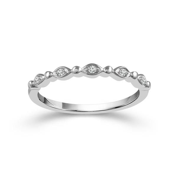 10k White Gold 0.04ctw Diamond Stackable Band Robert Irwin Jewelers Memphis, TN