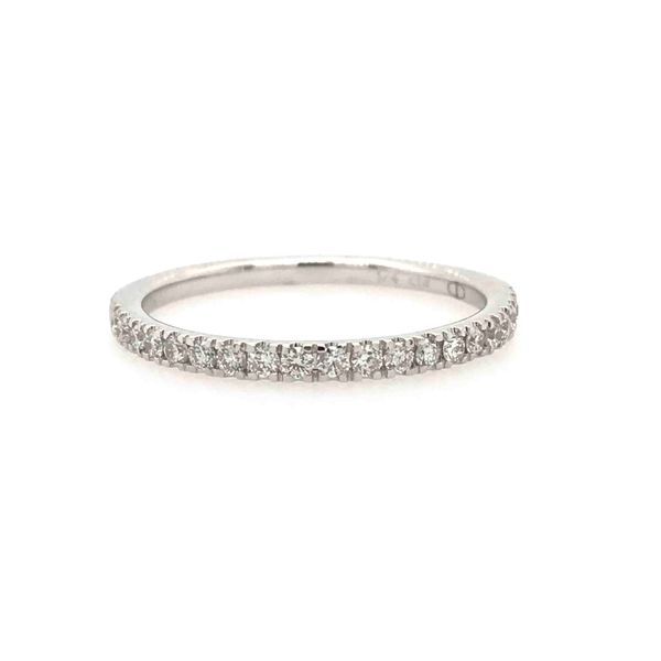 14k White Gold 0.25ctw Prong Set Diamond Band Robert Irwin Jewelers Memphis, TN