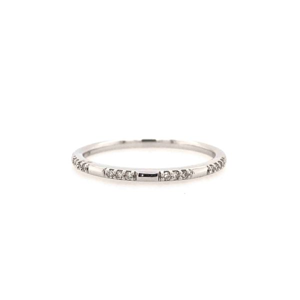 10k White Gold 0.07ctw Diamond Stackable Band Robert Irwin Jewelers Memphis, TN