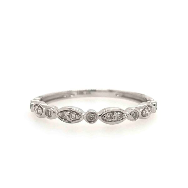 10k White Gold 0.10ctw Diamond Stackable Band Robert Irwin Jewelers Memphis, TN