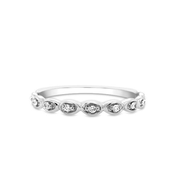 10k White Gold .06ctw Diamond Stackable Band Robert Irwin Jewelers Memphis, TN