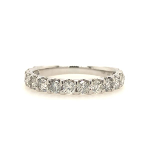 10k White Gold 1.01ctw Diamond Wedding Band Robert Irwin Jewelers Memphis, TN
