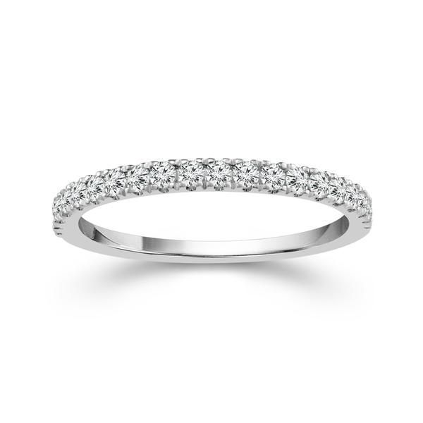 14k White Gold 0.20ctw Diamond Wedding Band Robert Irwin Jewelers Memphis, TN