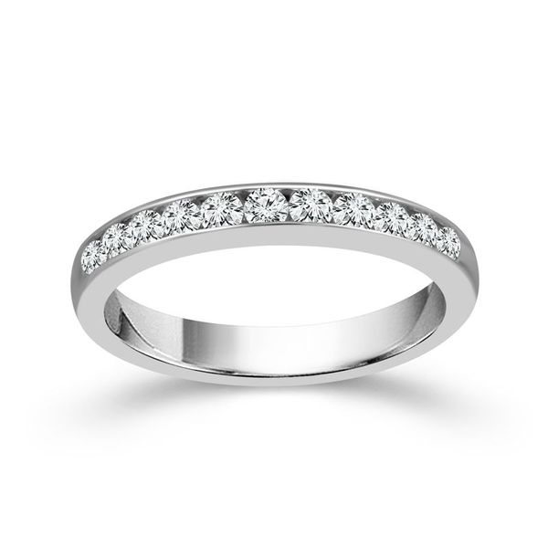 14k White Gold 0.33ctw Diamond Wedding Band Robert Irwin Jewelers Memphis, TN