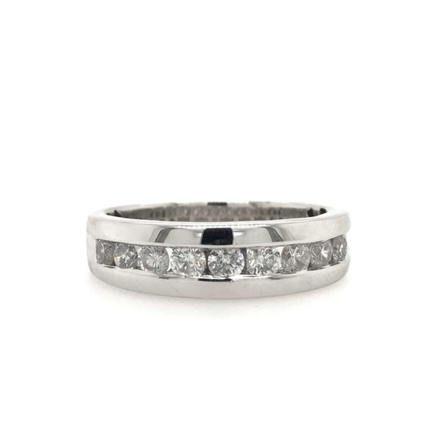 10k White Gold 1.00ctw Gents Diamond Band Robert Irwin Jewelers Memphis, TN