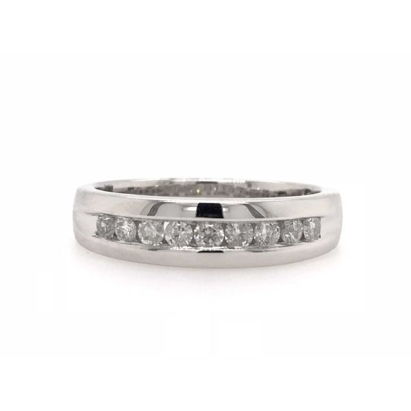 10k White Gold 0.50ctw Gents Diamond Band Robert Irwin Jewelers Memphis, TN