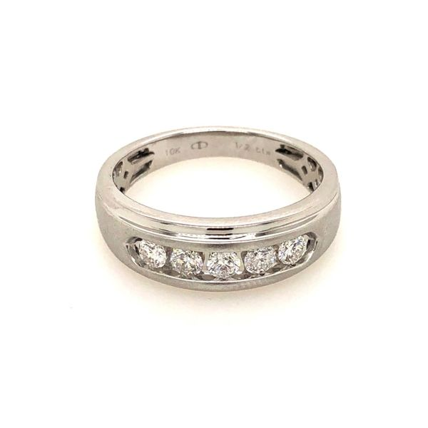 10k White Gold 0.50ctw Men's Diamond Band Robert Irwin Jewelers Memphis, TN