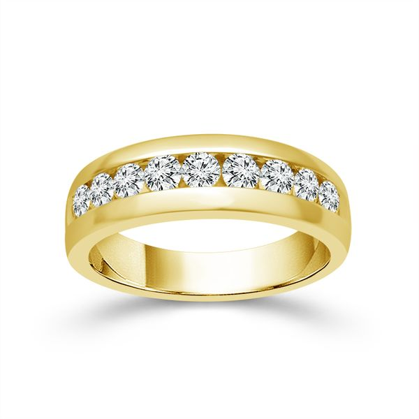 10k Yellow Gold 1.00ctw Diamond Men's Wedding Band Robert Irwin Jewelers Memphis, TN