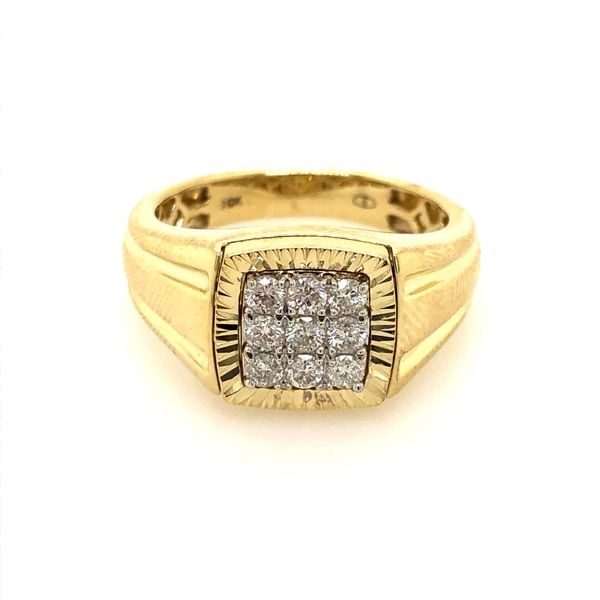 10k Yellow Gold 0.50ctw Men's Diamond Band Robert Irwin Jewelers Memphis, TN
