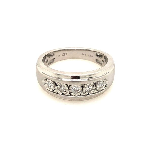 10k White Gold 0.25ctw Men's Diamond Ring Robert Irwin Jewelers Memphis, TN