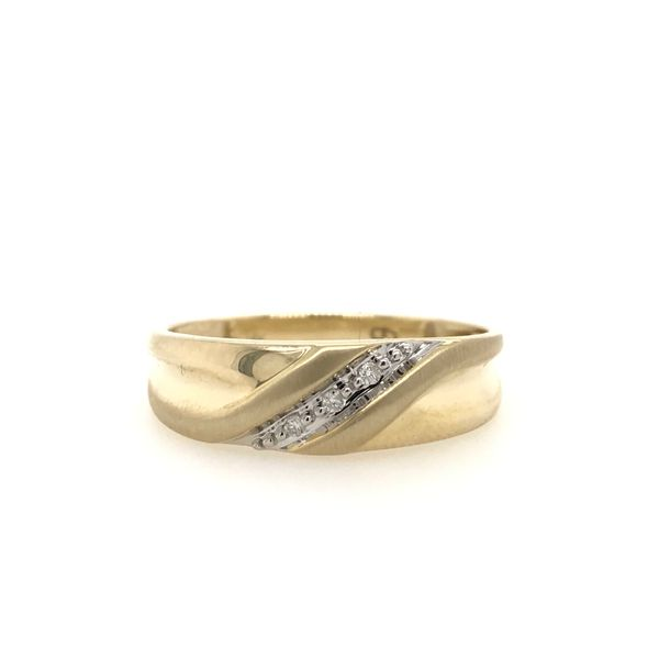 10k Yellow Gold 0.25ctw Round Diamond Men's Ring Robert Irwin Jewelers Memphis, TN
