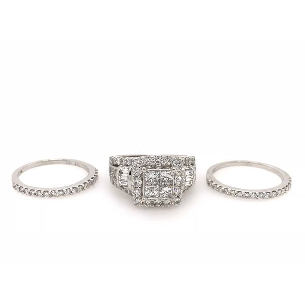 3 Carat Diamond Wedding Set Image 2 Robert Irwin Jewelers Memphis, TN